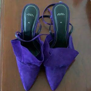 ZARA Ankle strap heels.